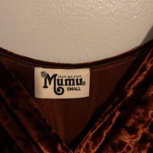 6960dc2e87f Show Me Your MuMu Pants - THE RICHARDS JUMPSUIT ~ COPPER CRUSHED VELVET
